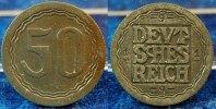 Deutschland / WEIMAR / PROBEPRÄGUNG 50 Pfennig WEIMAR 50 Pfennig Gestaltungsprobe zu J.301 Zink mit Riffelrand, vz