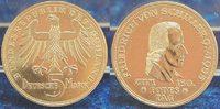 Bundesrepublik Deutschland 5 Mark Schiller 5 Mark Schiller Gedenkmünze 1955 F, vz-st