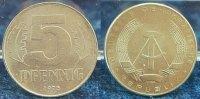 Deutschland / DDR 5 Pfennig Nickelprobe 5 Pfennig DDR 1975 A Nickelprobe (b) magnetisch 2,48g.