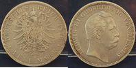 Hessen 5 Mark 5 Mark Silber 1876 H Hessen Ludwig III.  schöne Tönung, ss