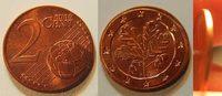 Deutschland 2 Cent Fehlprägung 2 Cent 2007 F  prägefrisch  Fehlprägung auf 1 Cent Rohling !!!