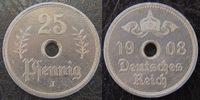 Kolonien Deutsch-Ostafrika 25 Pfennig/Heller Probeprägung Deutsch-Ostafrika Probeprägung eines 25Pfennig im Stil der 5 u.10 Heller Münzen