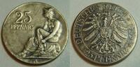 Kaiserreich / 25 Pf. Probeprägung 25 Pfennig Probe zum 25Pf. J.18 von Kaufmann  2.Preis im Gestaltungswettbewerb   4,5g.