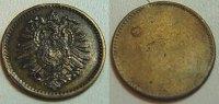 Deutschland / Kaiserreich 20 Pfennig, einseitige Prägung für Schmu Kaiserreich 20Pfennig Adlerseite. Einseitige Prägung f.Schmuckzwecke.Schaaf S.35
