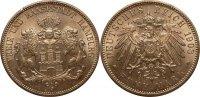 Kaiserreich / Hamburg 5 Mark Kaiserreich Hamburg 5 Mark großer Adler 1908J  vz-st, kleiner Randfehler