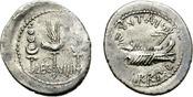 Denarius  Roman Imperatorial Period. MARC ANTHONY. LEG VIIII (9th). Scarce issue SS