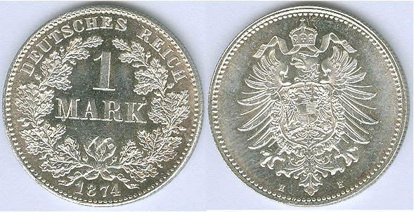 1 Mark 1874 H Kaiserreich Fast Stempelglanz Bis Stempelglanz Ma Shops