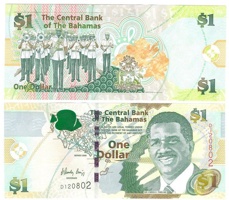 1 Dollar 2008 Bahamas