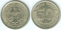 Nach Stabilisierung der Mark 1923-1933 (1936) 50 Reichspfennig