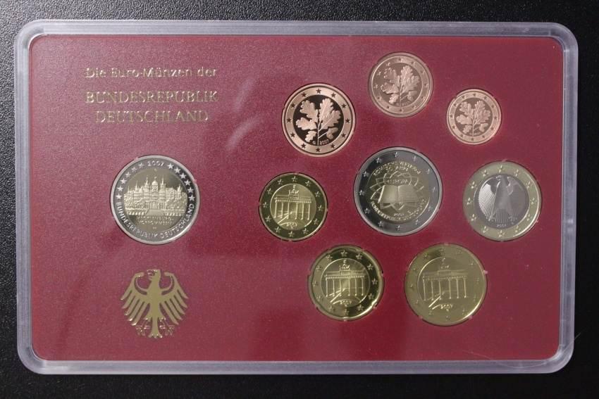 KMS 2007 G BRD Deutschland, Kursmünzensatz 2007 G - incl. 2 Euro Römische Verträge PP
