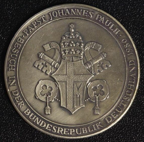 Medaille 1980 Vatikan Deutschland Papst Johannes Paul Ii Auf