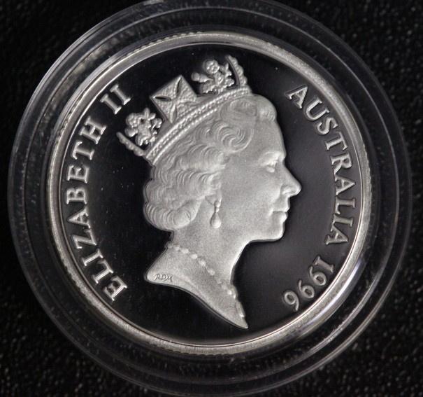 1 Dollar 1996 Australien Henry Parkes PP/OVP/Zert.