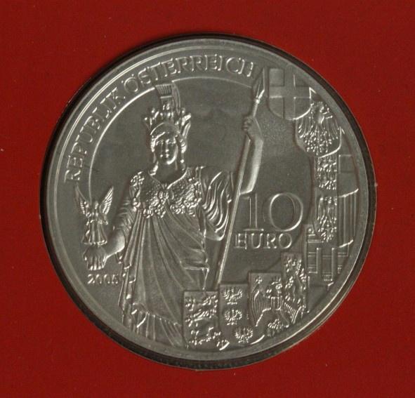 10 Euro 2005 Österreich 60 Jahre 2. Republik hg/Blister