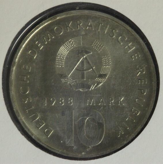 10 Mark 1988 DDR Sportbund - Numisbrief prfr.