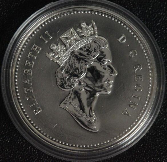 1 Dollar 2003 Canada Silbermine - Elisabeth II. BU/OVP*