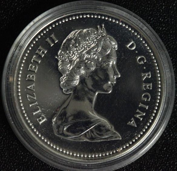 1 Dollar 1976 Kanada Parlamentsbibliothek PL*/ Etui