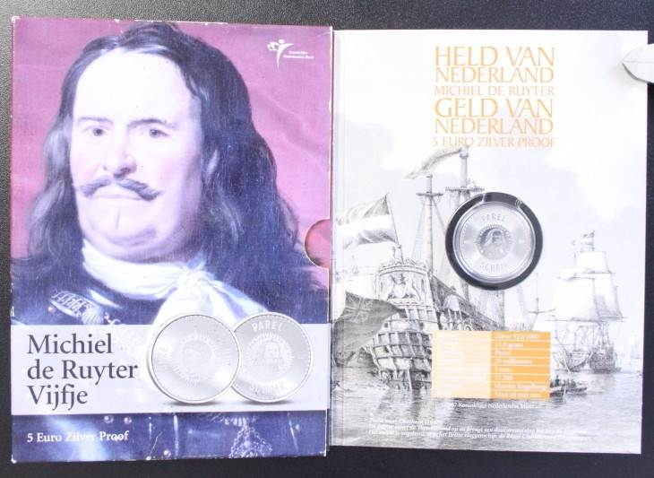 5 Euro 2007 Niederlande 5€ Michiel de Ruyter Vijfje PP / OVP
