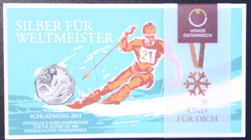 5 Euro 2012 Österreich 5€ Schladming Ski WM 2013 Hgh / ST