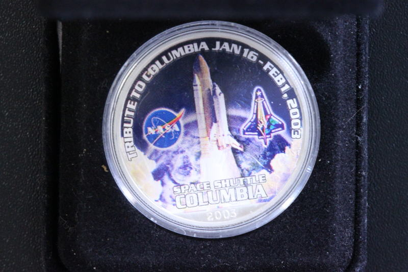 1 Dollar 2003 USA 1 $ Space Shuttle Columbia - 1 Oz Ag st
