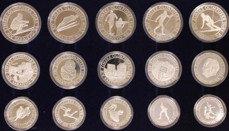 4250 Dinar 1982-84 Jugoslawien Olympia ´82- 84 Sarajewo PP*/OVP*/Zert