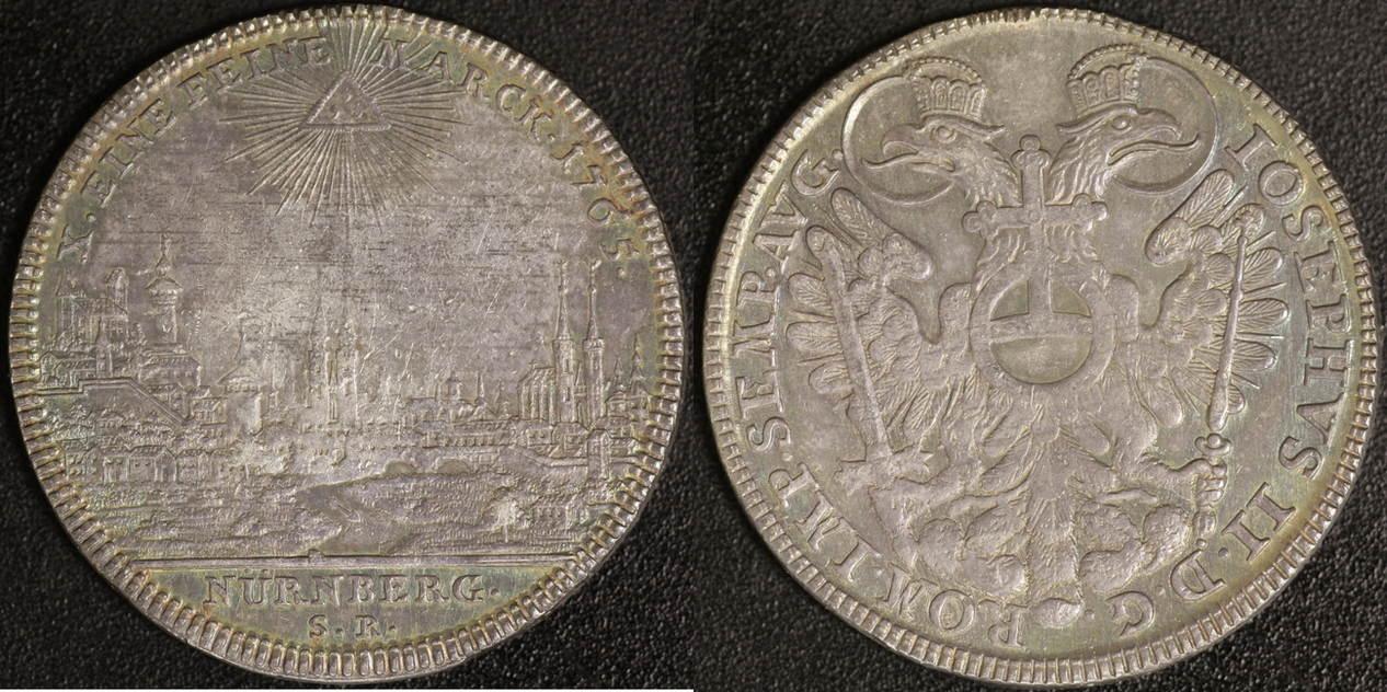 Taler 1765 Nürnberg Joseph II. (1765-90) ss-vz, PS