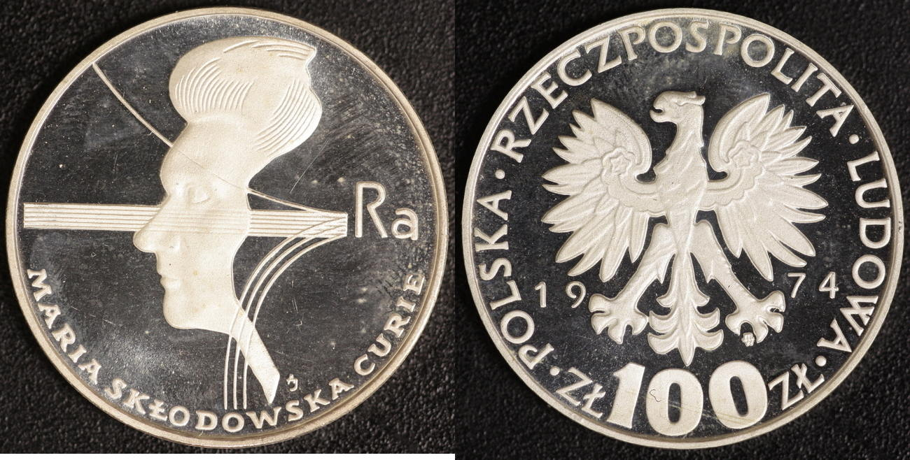 100 Zloty 1974 Polen Curie P.P.