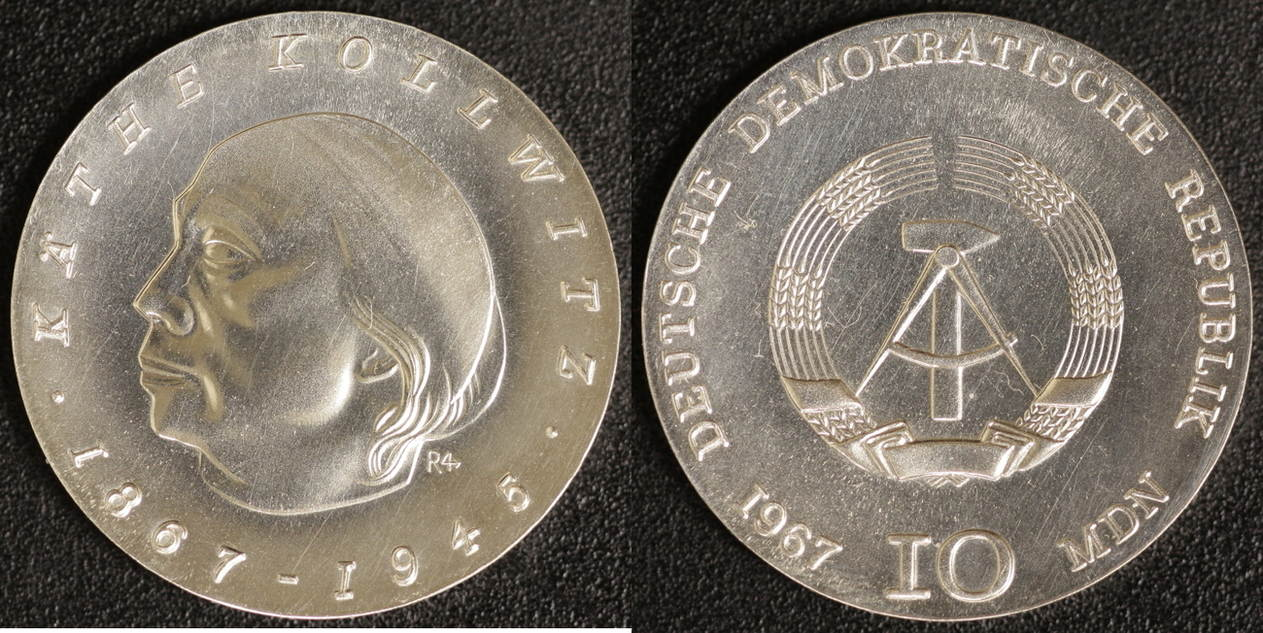 10 Mark 1967 DDR Kollwitz vz-st