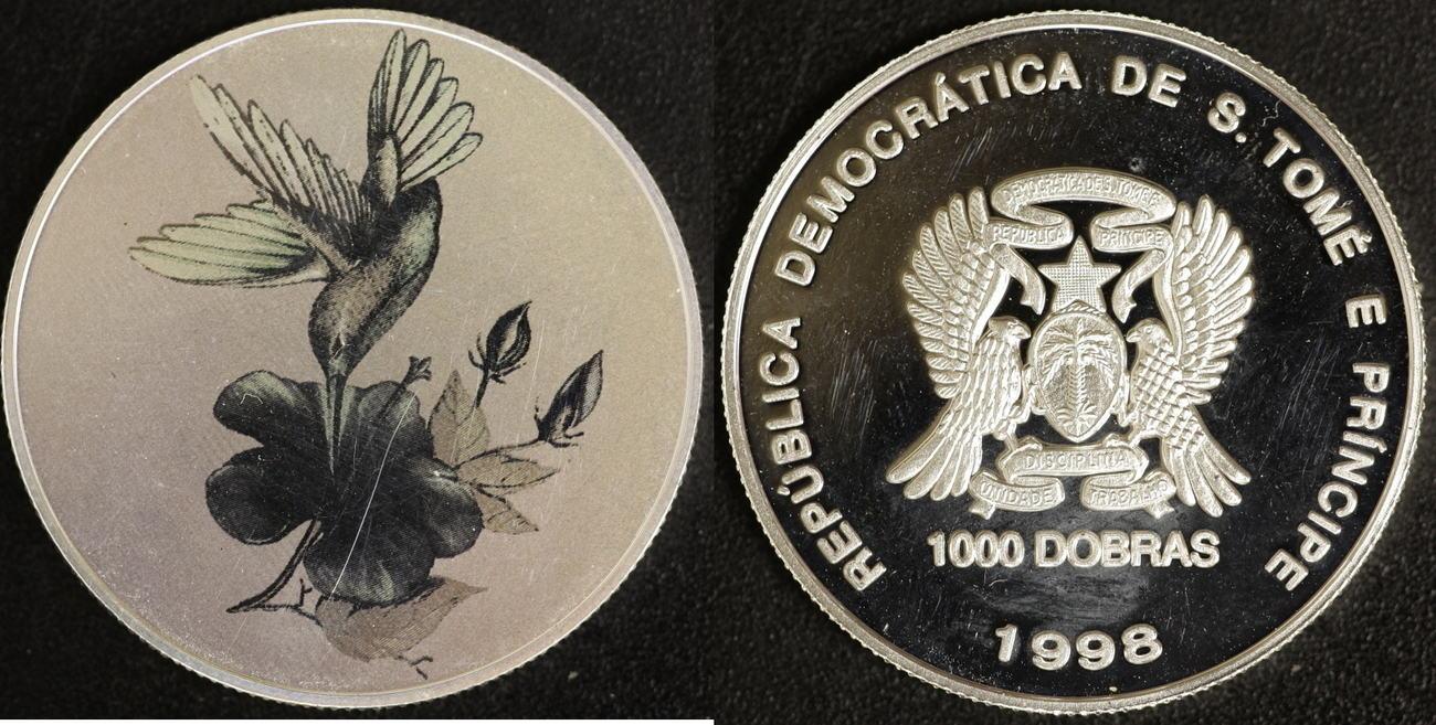 1000 Dobras 1998 Sao Tomé e Principe Kolibri Hologramm P.P.