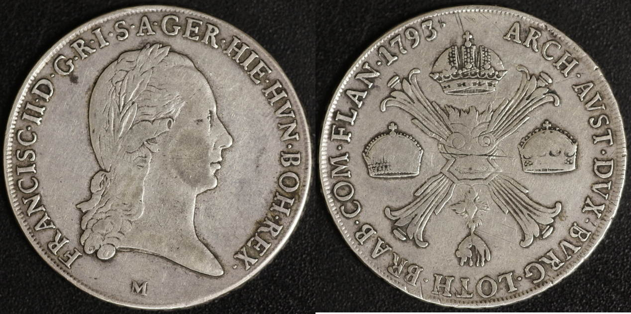 Taler 1793 M Österreich Franz II. ss