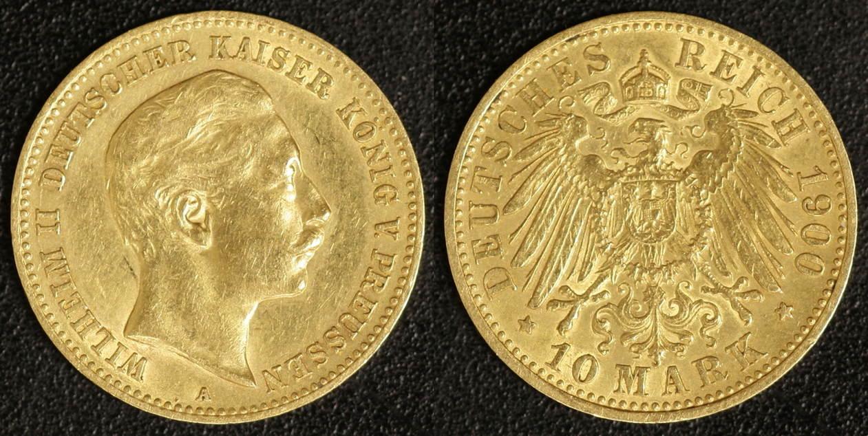 10 Mark 1900 Preußen Wilhelm I. ss