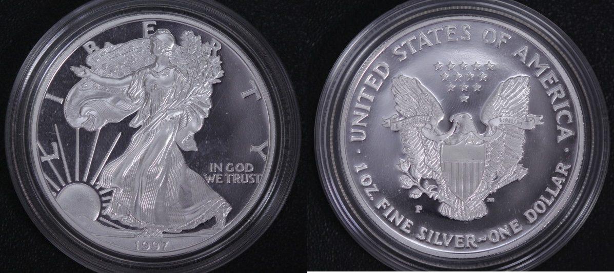 American Eagle 1997 P USA Silver Eagle PP*