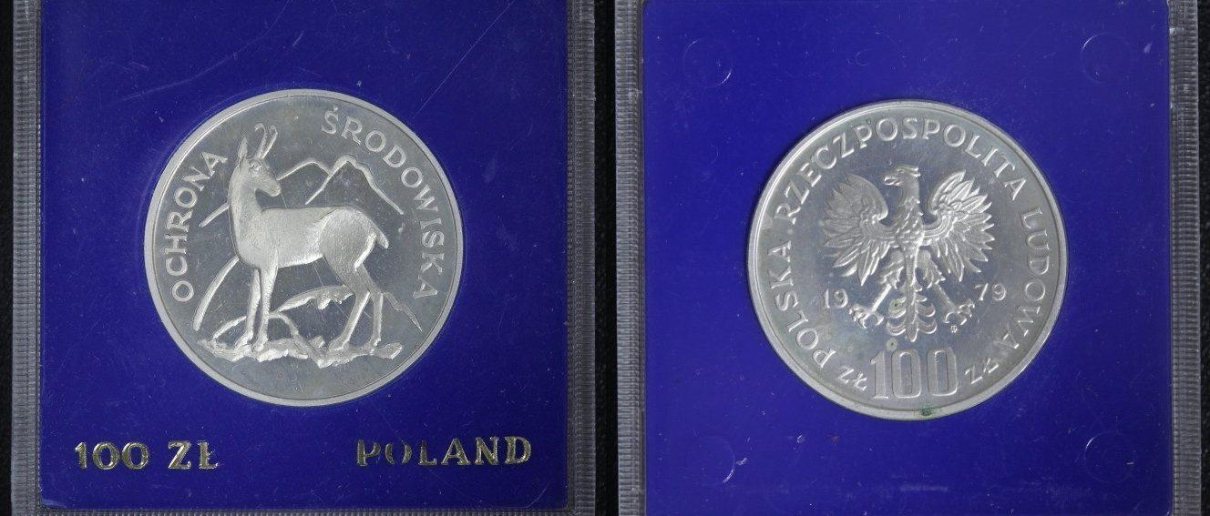 100 Zloty 1979 Polen Serie Umweltschutz - Gemse PP
