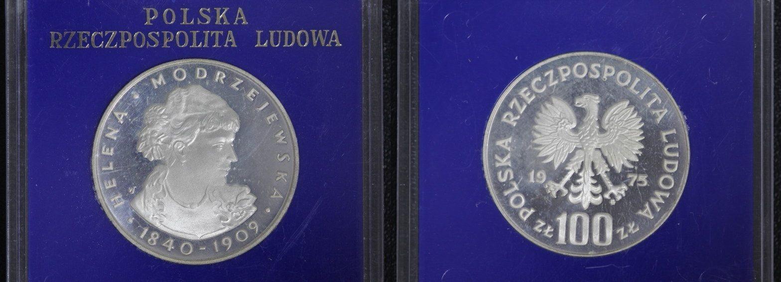 100 Zlotych 1975 Polen - Helena Modrzejewska PP