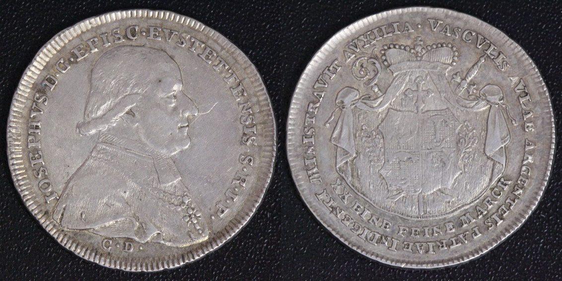 1/2 Taler 1796 C.D. Eichstätt Josef v. Stubenberg ss-vz/l.Kr./PS