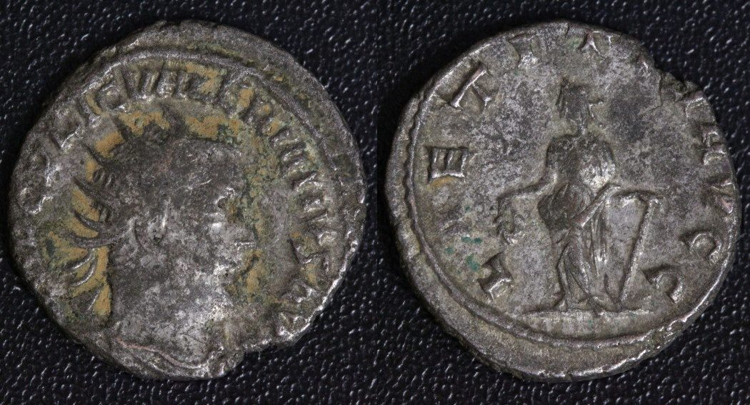 Antoninian Rom Valerianus I. (253-60) - Laetita Augg s-ss/Rf.