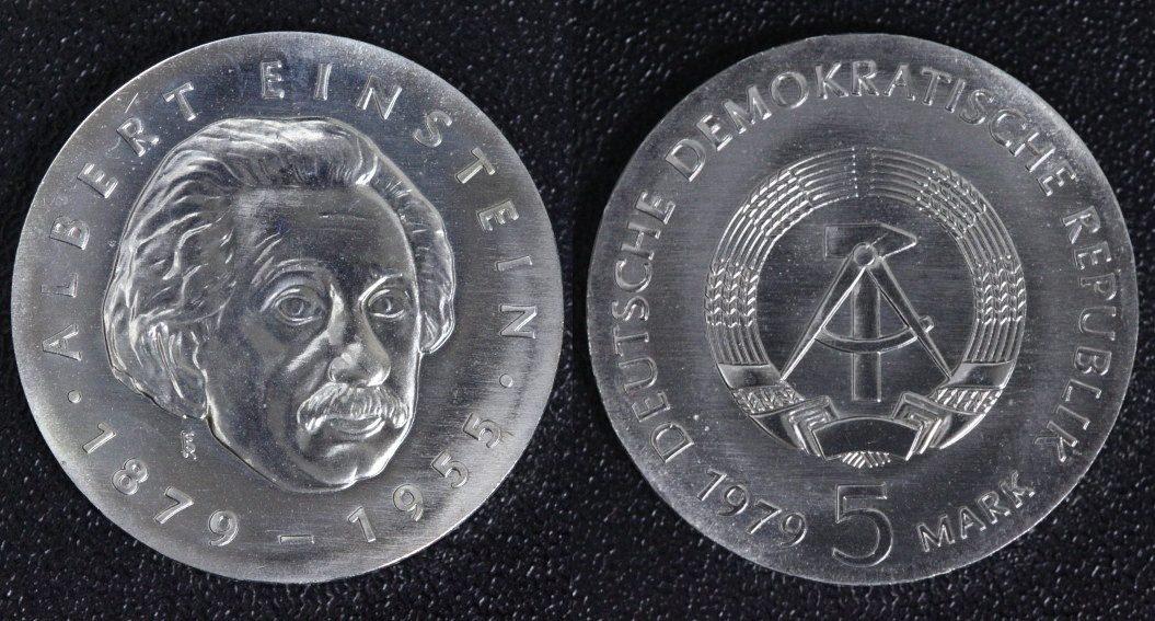5 Mark 1979 DDR Albert Einstein f.st