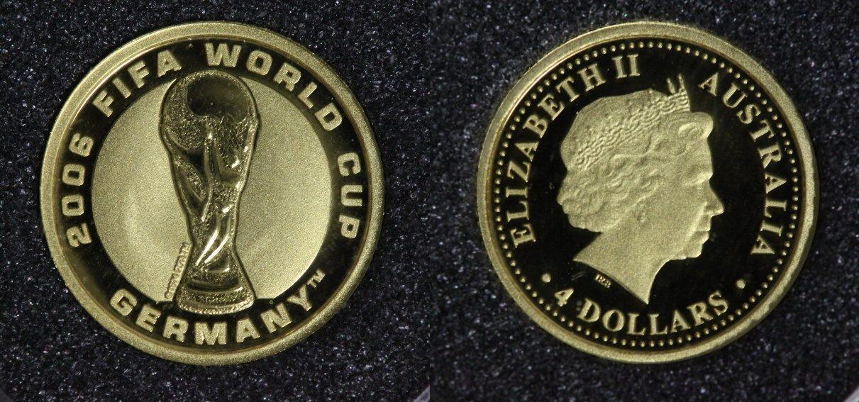 4 Dollars 2006 Australien Fußball-Weltmeisterschaft 2006 in Deutschland PP*