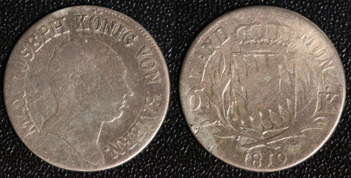 6 Kreuzer 1819 Bayern Max I. Joseph f.s