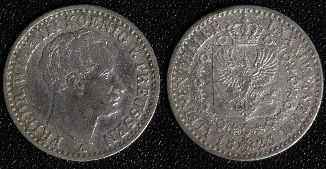 1/6 Taler 1823 A Preußen ss