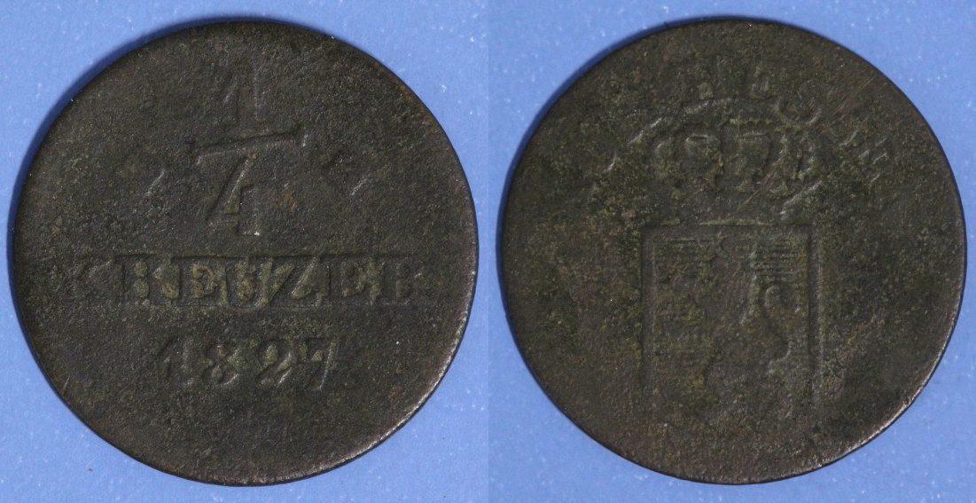 1/4 Kreuzer 1827 Hessen-Kassel s