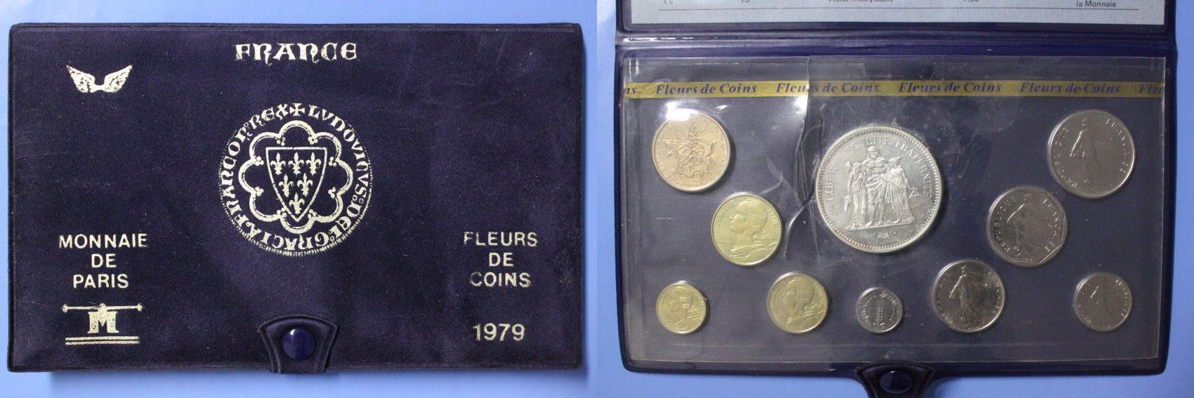 KMS 1979 Frankreich 5. Republik - Serie FDC FDC/st/OVP/Zert./ Folie eingeschnitten