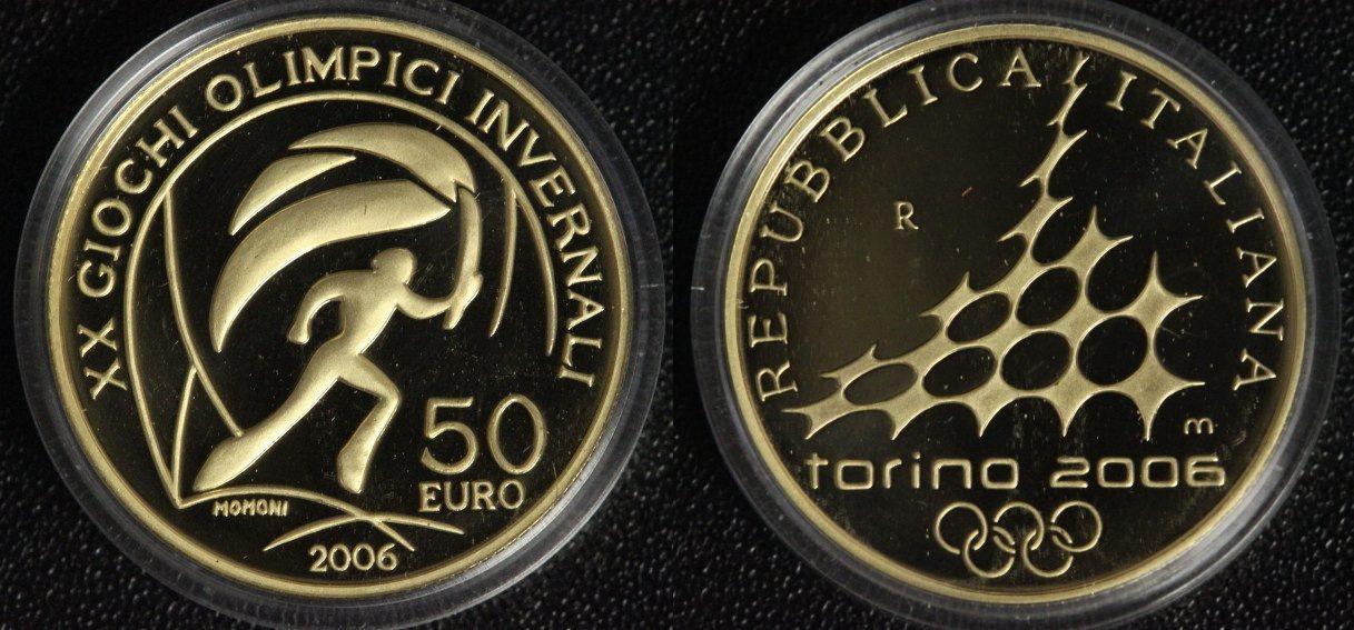50 Euro 2006 Italien Olympia Turin ´06 - Fackelläufer PP*/l.Rsp.