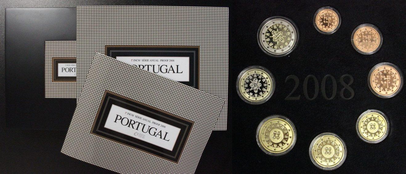 KMS 2008 Portugal Kursmünzensatz - niedrige Auflage PP/OVP/Zert.