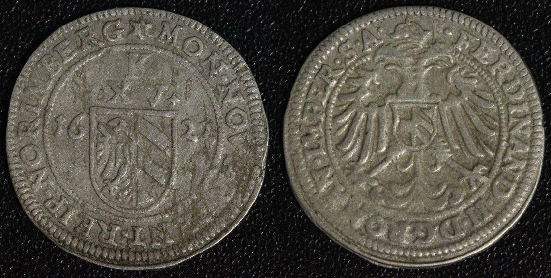 15 Kreuzer 1622 Nürnberg Kipperkreuzer - Stern ss/Srf.