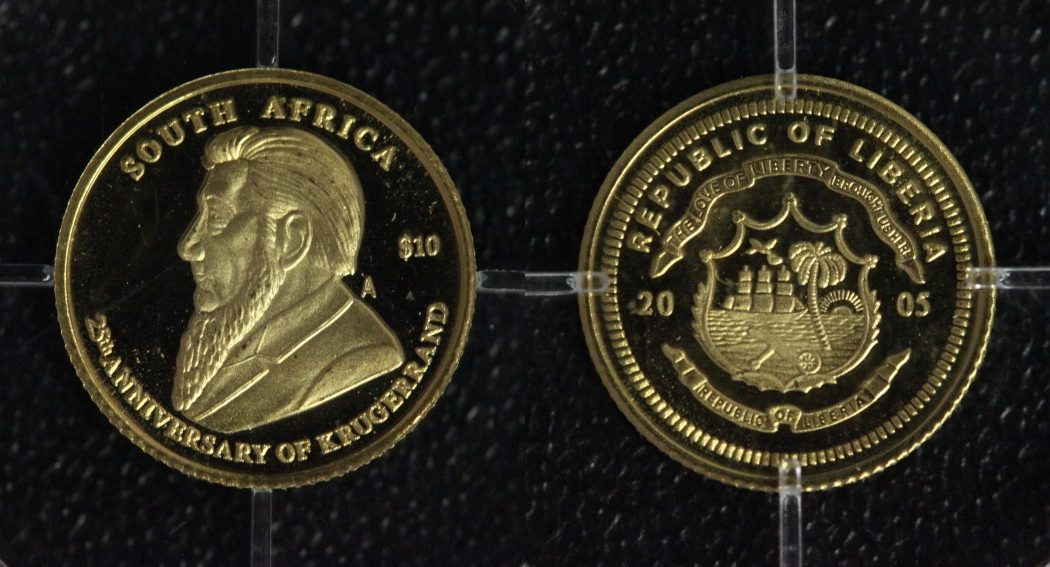 10 Dollars 2005 Liberia Kruegerrand - Gold PP*