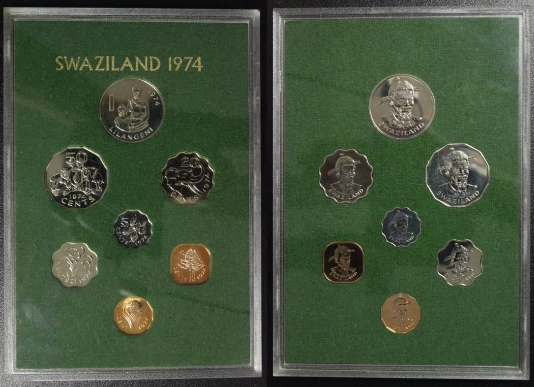 Kursmünzensatz 1974 Swaziland KMS - 1 Cent bis 1 Lilangeni PP*