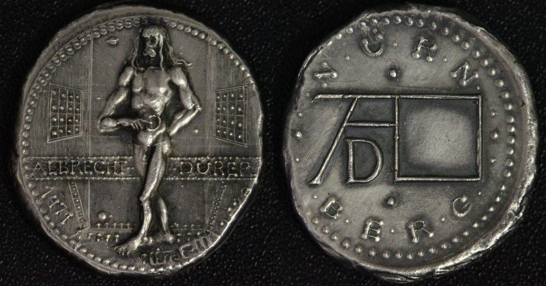 Medaille 1978 Nürnberg 450. Todestag A. Dürer (H. Zobl) - äußerst selten prfr.