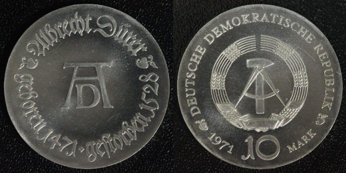 10 Mark 1971 DDR Albrecht Dürer f.st/min.Kr.