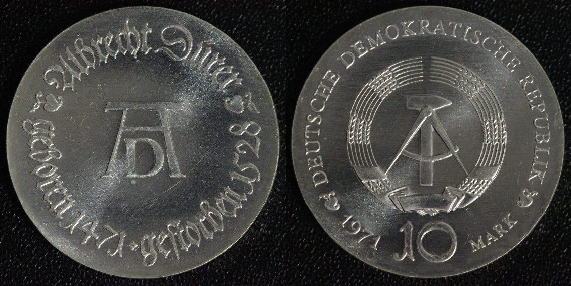 10 Mark 1971 DDR Albrecht Dürer f.st