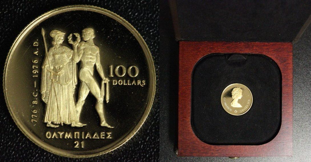 100 Dollars 1976 Kanada Olympische Spiele Montreal Gold 12 Unze
